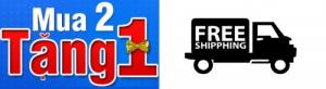 Miễn phí vận chuyển, chương trình khuyến mại mua 2 tặng 1