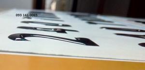 Sticker epoxy , logo đổ keo nổi