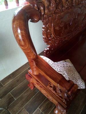 Bán bộ bàn ghế phòng khách gỗ hương vân tay 12