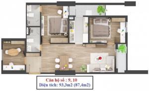 Cần bán căn số 10 tòa C 283 Khương trung – DT93m2