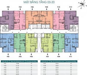 Chính chủ bán căn hộ chung cư packexim 2, DT 65m2 (2PN, 2VS), giá 1.8 tỷ