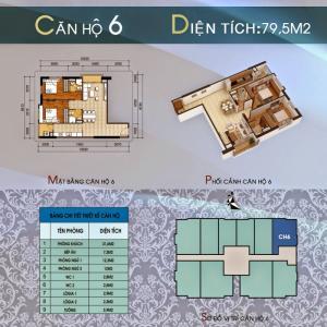 Cần bán căn góc số 6 diện tích 79,5m2 Tòa 304...