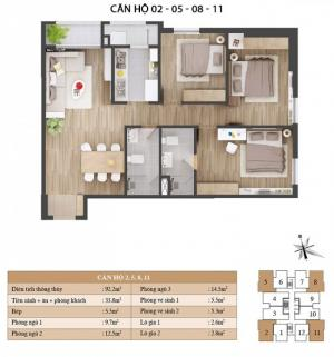 Cần bán căn hộ 3pn chung cư thuộc dự án Star...