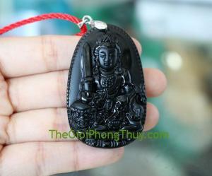 Phật bản mệnh đá t/a đen-Văn Thù Bồ Tát (Mão) FS6340-3