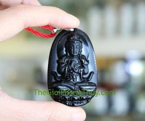 Phật bản mệnh đá hắc ngà – Mùi, Thân ( Như Lai Đại Nhật ) FS6340-6