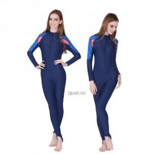 Áo bơi dài tay liền thân nữ