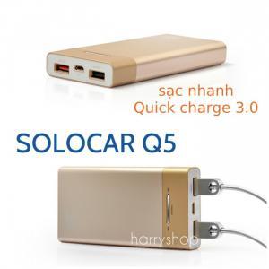 Pin dự phòng 10.000 mah hỗ trợ sạc nhanh Quick charge 3.0 Solocar Q5