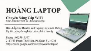 Sửa laptop tận nhà. Chuyên trị wifi yếu , chập chờn , ảnh hưởng công việc