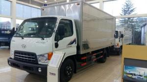 Xe thùng tải kín ( Thùng dài 5 mét), xe có máy lạnh, phanh cupo, Linh kiện nhập khẩu trực tiếp từ Hyundai Hàn Quốc