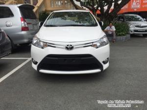 Khuyến Mãi Mua Toyota Vios E 2017 Số Tự Động Màu Trắng Giao Tháng 09/2017 Tại HCM