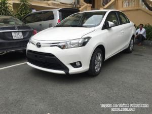 Khuyến Mãi Mua Toyota Vios E 2017 Số Tự Động Màu Trắng Giao Tháng 11/2017 Tại HCM