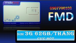 Sim 3G - 62GB/tháng. Giá 390k/sim