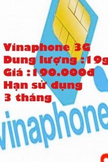 Sim 3G vinaphone dung lượng cao xài thỏa thích