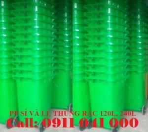 Chuyên bán thùng rác nhựa 120l, 240l, 660l giá rẻ nhất thị trường