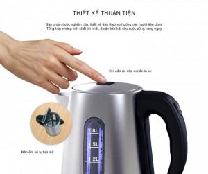 Ấm đun nước siêu tốc 1800W An toàn,Tự ngắt...