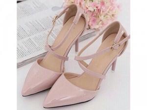 Giày cao got 7p màu trắng