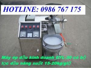 Máy ép dầu có bộ lọc giá rẻ, máy ép dầu 6yl-30 giá rẻ