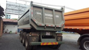 Rơ moóc 24 khối của Doosung tải trọng 29 tấn thùng moóc ben mới 2017
