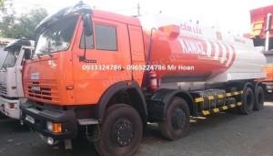 Xe Kamaz xăng dầu 8x4 chở được 23 m3