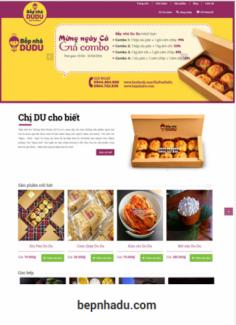 Website nhà hàng, cửa hàng bánh ngọt