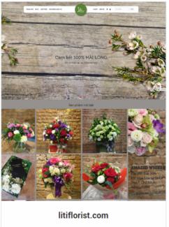 Website kinh doanh hoa tươi, điện hoa
