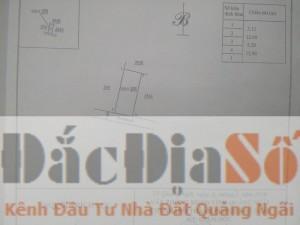 Bán đất Đinh Triều - Quảng trường Tp Quảng Ngãi