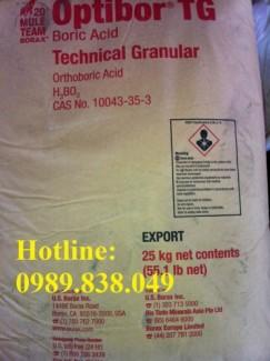 Axit boric _ Boric Acid _ H3BO3 Hóa chất mạ, sản xuất thủy tinh chịu nhiệt...