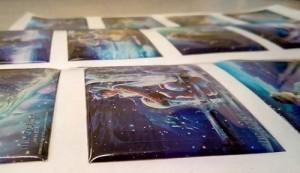 Bộ sticker epoxy hình 12 chòm sao