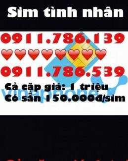 Sim cặp tình nhân tài khoản 150.000