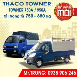 XE TẢI THACO TOWNER 750A tải trọng 750kg | Long An - Hồ Chí Minh