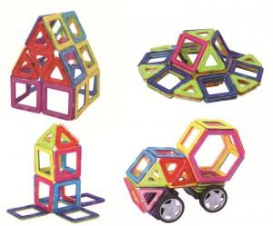 Miếng ghép nam châm MAGBO - Đồ chơi phát triển trí tuệ cho bé