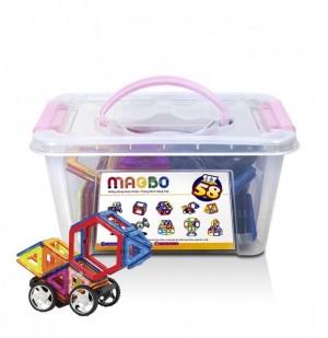 Miếng ghép nam châm MAGBO - Đồ chơi phát triển trí tuệ cho bé - MSN388083