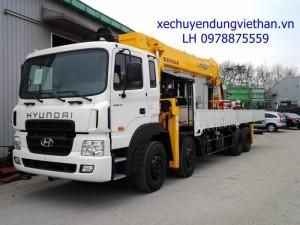 Xe tải hyundai HD320 gắn cẩu 10 tấn,