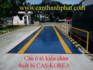 Cân ô tô, cân xe tải kiểu chìm 40 tấn CAS, Korea