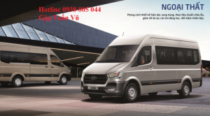 Tây Ninh, Nội thất xe bus 16 ghế Hyundai H350, nội thất xe Khách 16 ghế hyundai h350, 2017