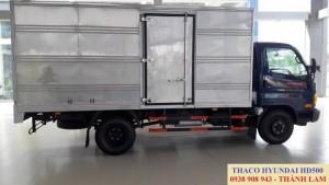 Xe tải thùng mui bạt thùng kín 5 tấn/  xe tải Hyundai Trường Hải 5 tấn/ xe tải Hyundai Thaco HD500 tải trọng chở hàng 5 tấn