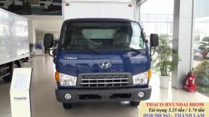 Xe tải Hyundai Thaco HD350 thùng kín 3.25 tấn/ thùng mui bạt 3.1 tấn chạy bằng B2, giá xe tải Hyundai Thaco HD65 lên tải