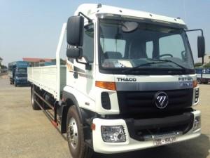 Xe Thaco Auman C160 thùng lửng thích hợp chở tôn, thép , vật liệu xây dựng