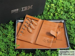 Bộ quà tặng da PU:  Túi da đựng tài liệu + Ví da đa năng sang trọng