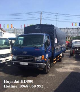Gía xe tải Hyundai HD800 8 tấn thùng dài 5m