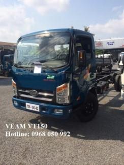 Gía xe tải Veam VT150 tải trọng 1,5 tấn thùng...