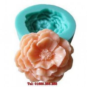 Khuôn rau câu 4D silicon – Hoa cẩm chướng - Mã số 18  - Sản xuất: Singapore
