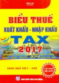 Biểu thuế xuất nhập khẩu song ngữ 2017