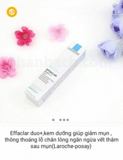 Effaclar duo+,kem dưỡng giúp giảm mụn , thông thoáng lỗ chân lông ngăn ngừa vết thâm sau mụn(Laroche-posay)
