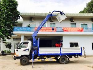 Ô Tô Miền Nam chuyên Bán xe tải gắn cẩu Tadano Hyundai HD99 5.4 tấn, bán trả góp