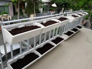 Bộ chậu trồng rau ốp tường QA03, QA04