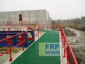 Sản phẩm được ứng dụng rộng rãi frp grating- thiết kế át nước fiberglass