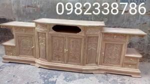 Kệ ti vi gỗ hương vân 2 m 40