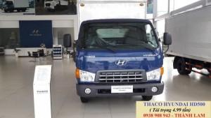 Giá xe tải 4.99 tấn hyundai thùng kín, thùng mui bạt gác kèo/