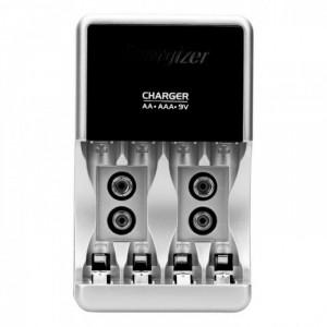 Máy 2 ngăn, có thể sạc cùng lúc 4 pin AAA, AA hoặc 2 viên pin vuông 9 V , hoặc sạc xen kẽ .